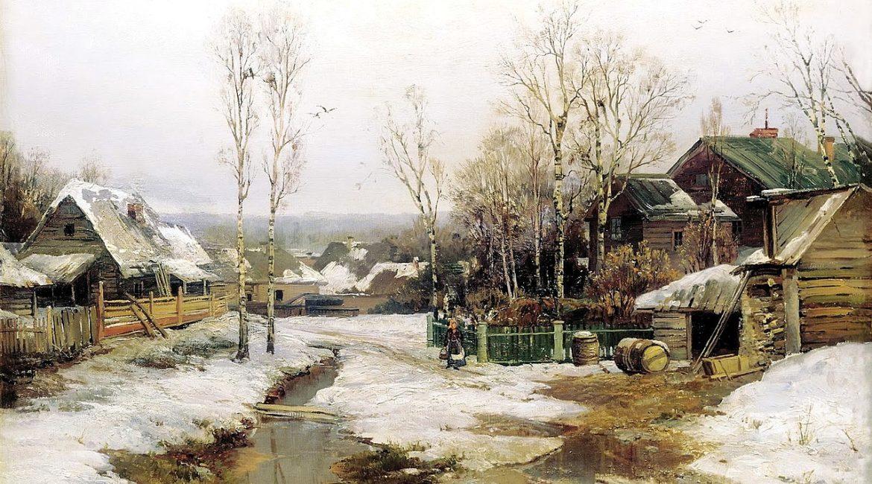 Иван Вельц. Весной в окрестностях Петербурга. 1896