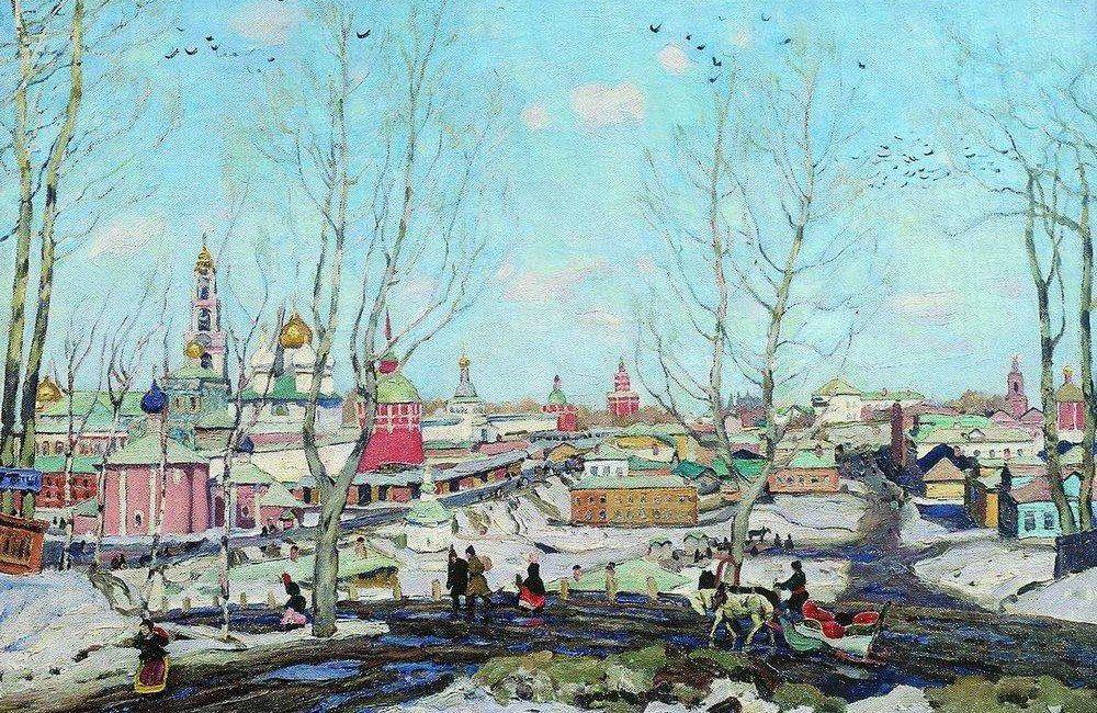 Юон Константин Федорович. Весна в Троицкой лавре. 1911