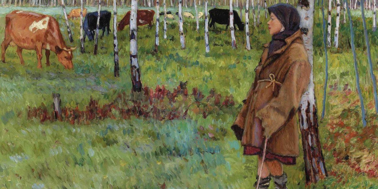 Богданов-Бельский Николай Петрович (1868-1945). Мечтательность среди берез