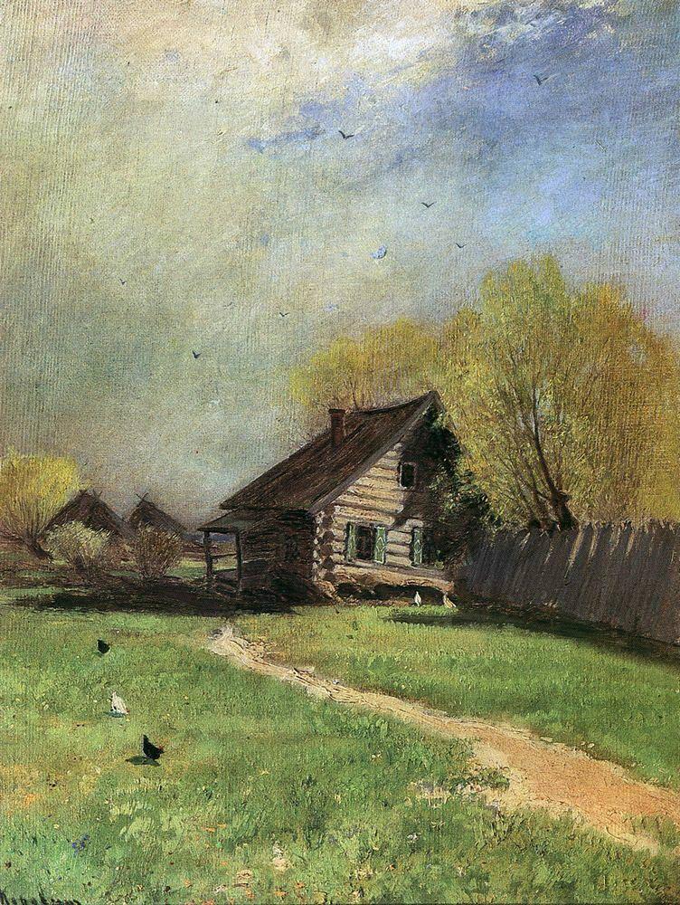 Коровин Константин Алексеевич (1861-1939). Ранняя весна. 1870-е