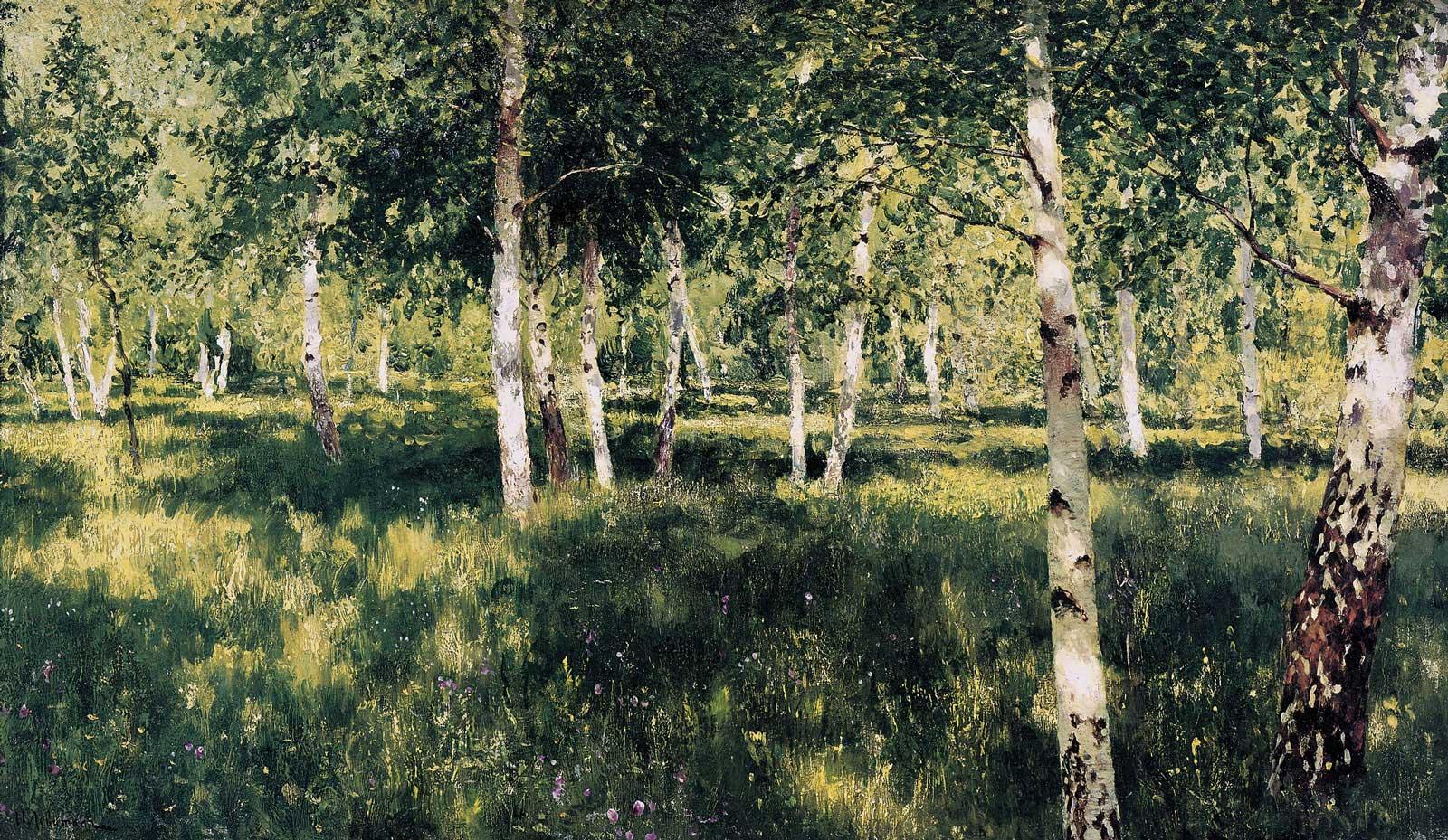 Исаак Левитан Берёзовая роща. 1885—1889