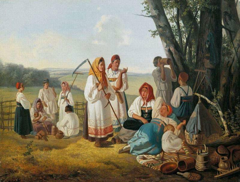 Плахов Лавр Кузмич (1810 - 1881). Отдых на сенокосе. 1840-е