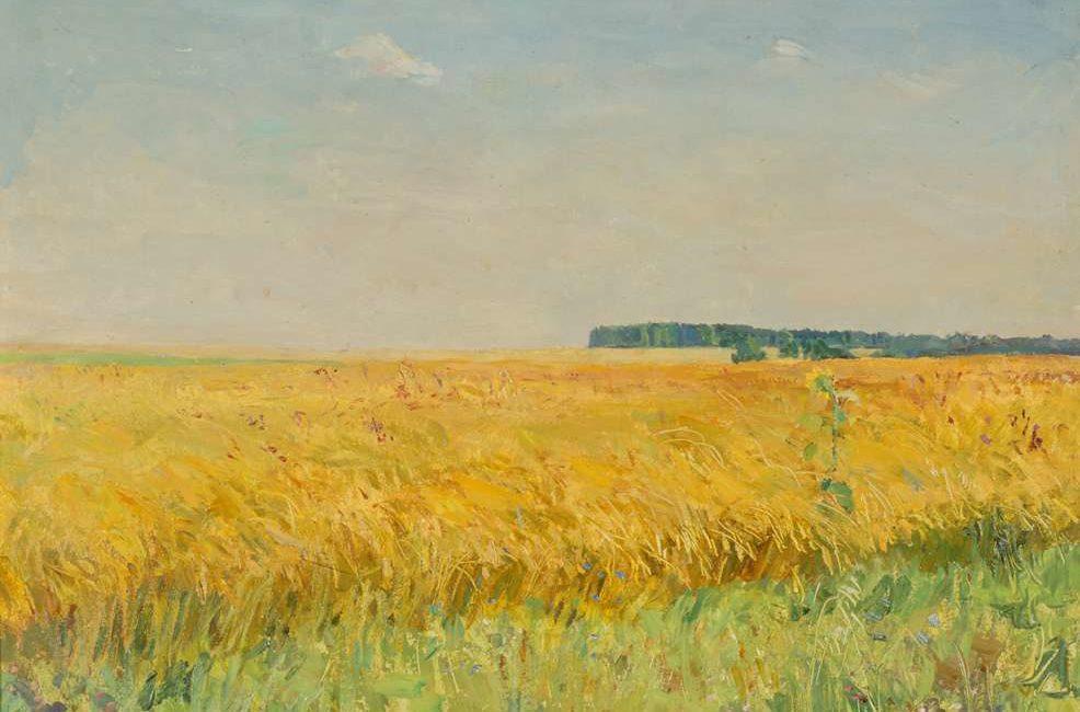Пластов Аркадий Александрович (1893 - 1972). Поле пшеницы. 1960г.