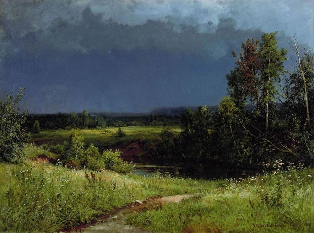 Шишкин Иван Иванович (1832 - 1898) Перед грозой. 1884