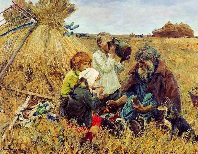 Пластов Аркадий Александрович (1893 - 1972) Жатва. 1945
