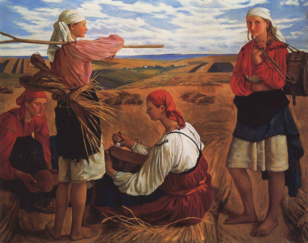 Серебрякова Зинаида Евгеньевна (1884-1967) Жатва. 1915