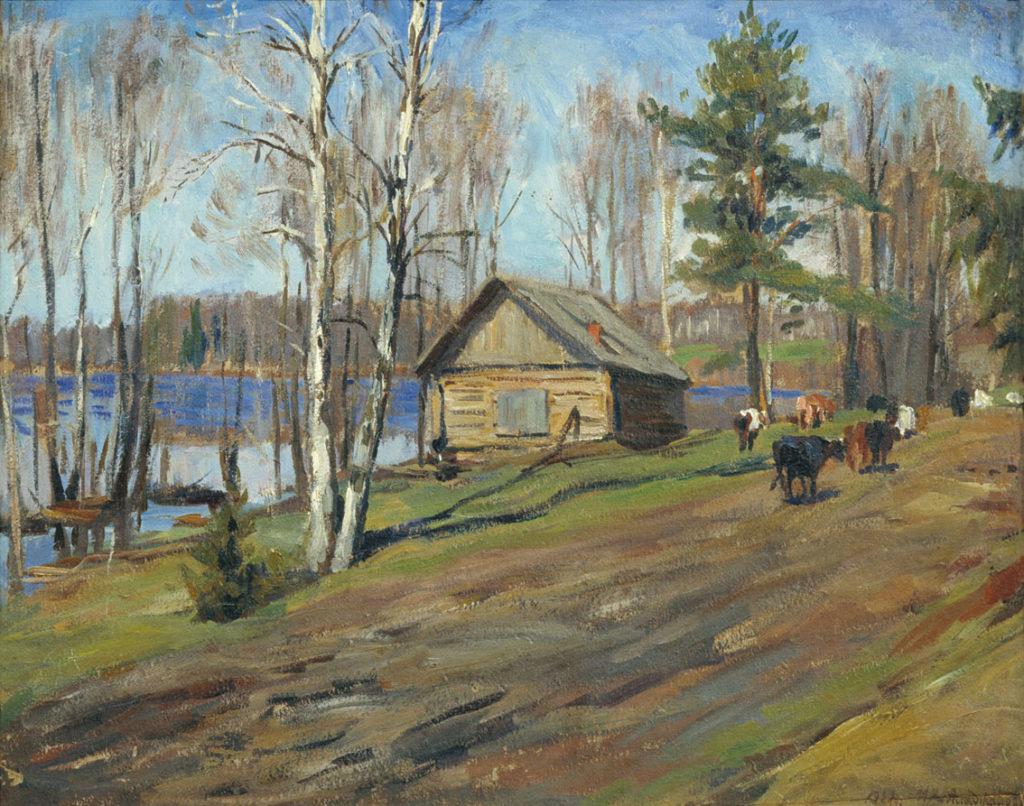 Аладжалов М.Х. (1862 - 1934), Деревенский пейзаж
