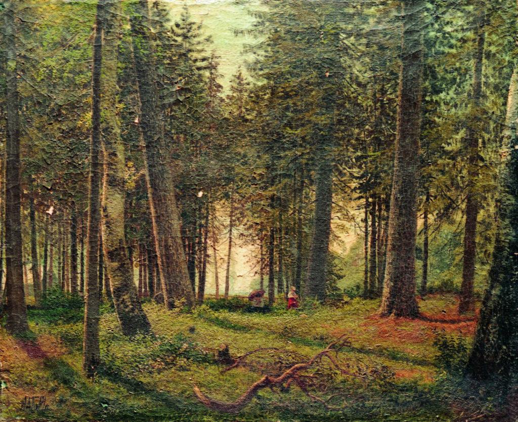 Лагорио Л.Ф. 1826 - 1905. В еловом лесу. 1870-е