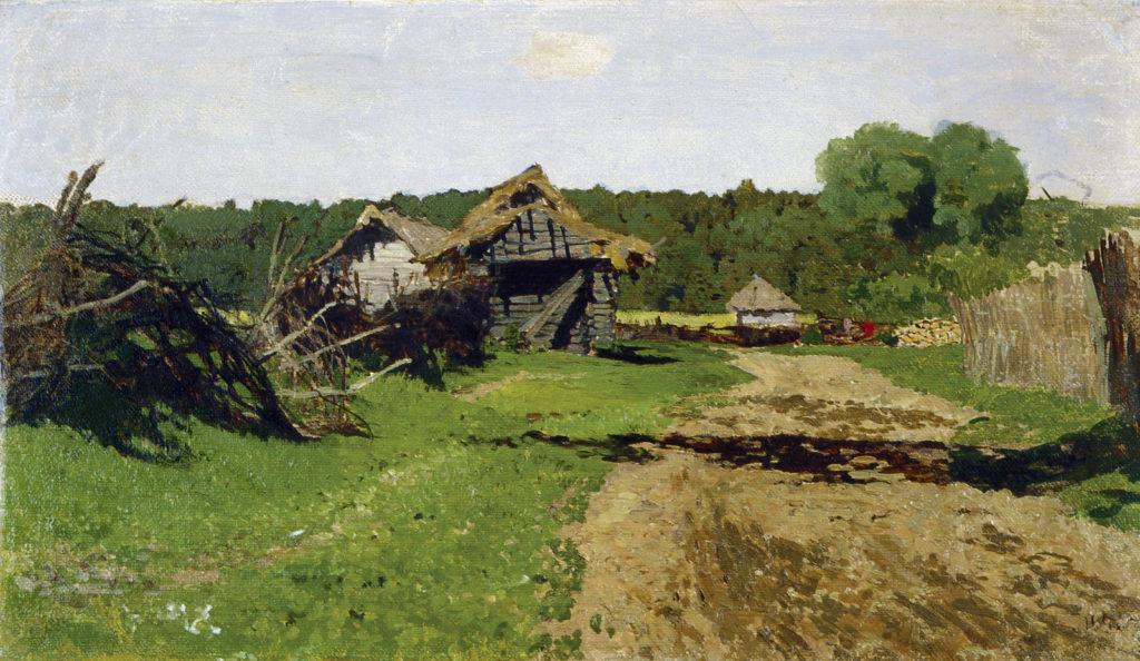 Левитан И.И. (1860 - 1900), Въезд в деревню. 1884
