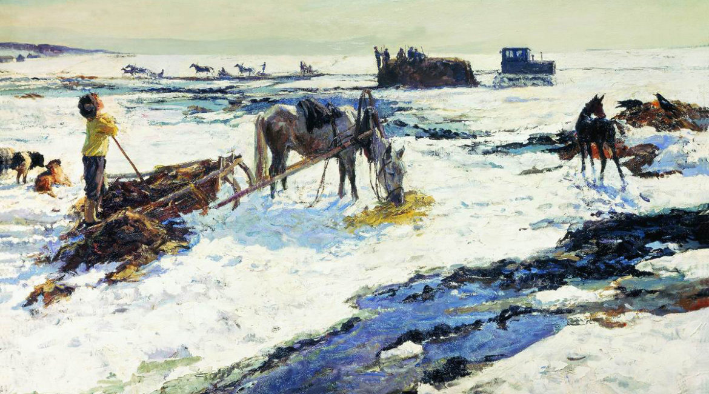 Пластов А.Ал.(1893 - 1972), Деревенский март. 1964