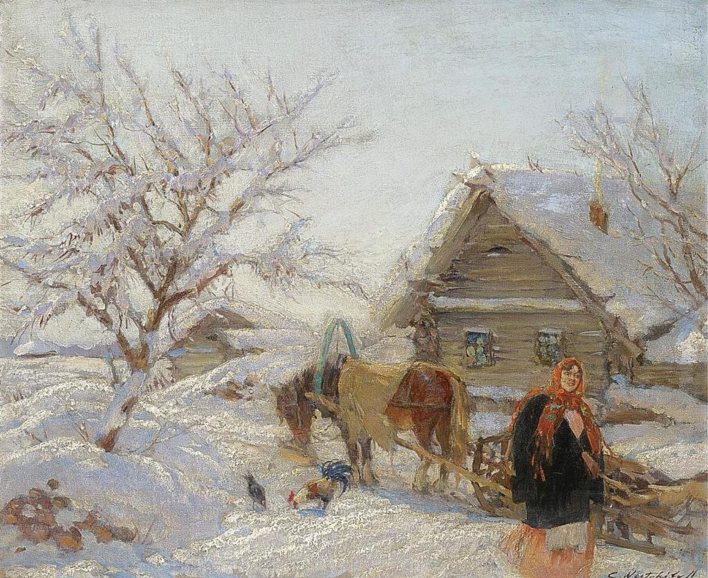 Вещилов К.Ал. (1878 - 1945), Деревня зимой