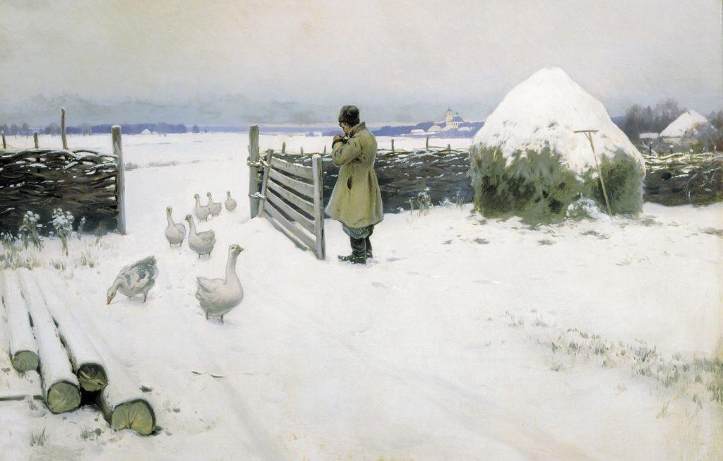Гермашев М.М. (1867-1930), Снег выпал, 1897