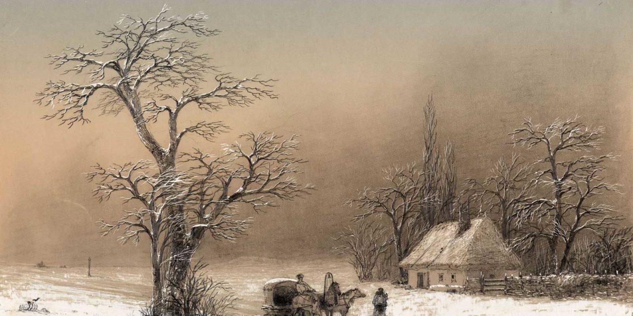 Иван Константинович Айвазовский. Зимний пейзаж. 1856