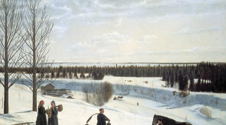 Никифор Крылов. «Зимний пейзаж. Русская зима». 1827.