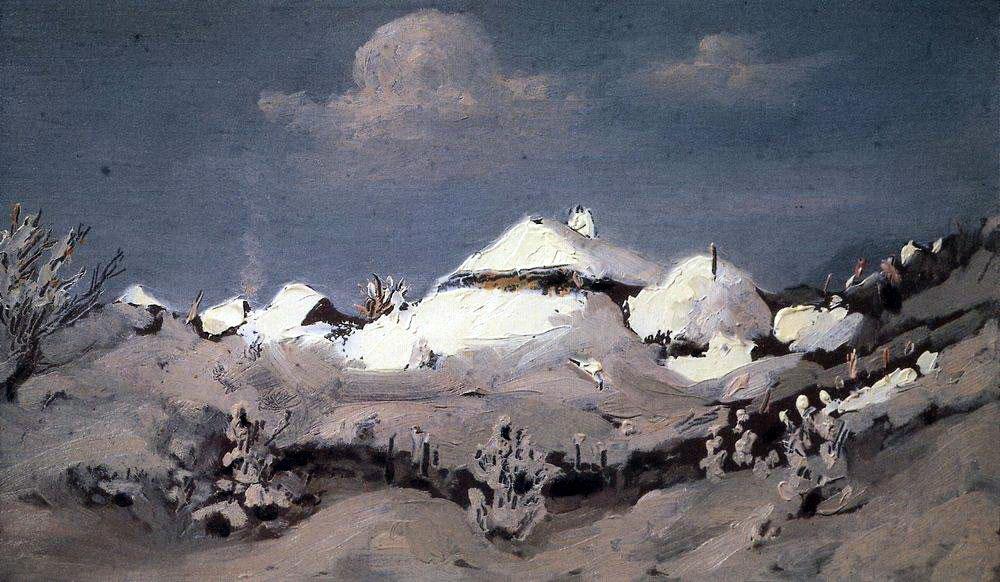 Архип Иванович Куинджи. «Зима. Пятна света на крышах хат». 1890-1895.