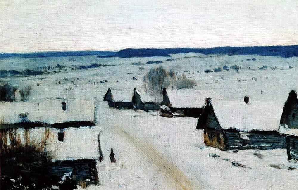 Исаак Левитан Деревня. Зима. 1877-1878