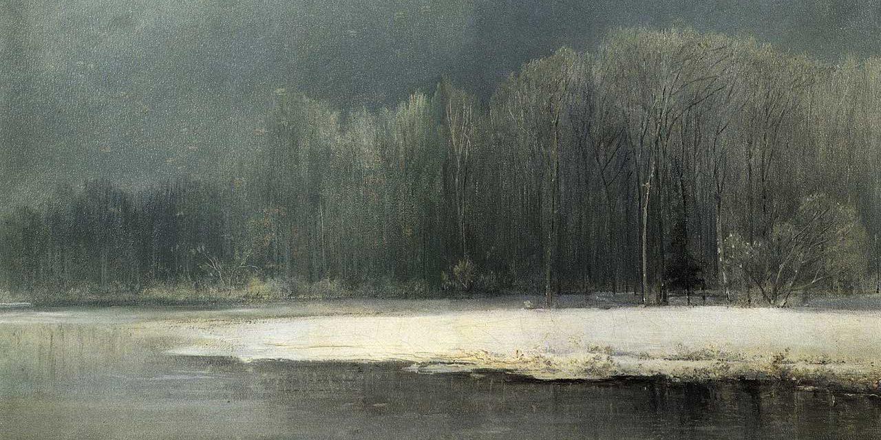 Саврасов А.К. Зимний пейзаж. Иней. 1870-е