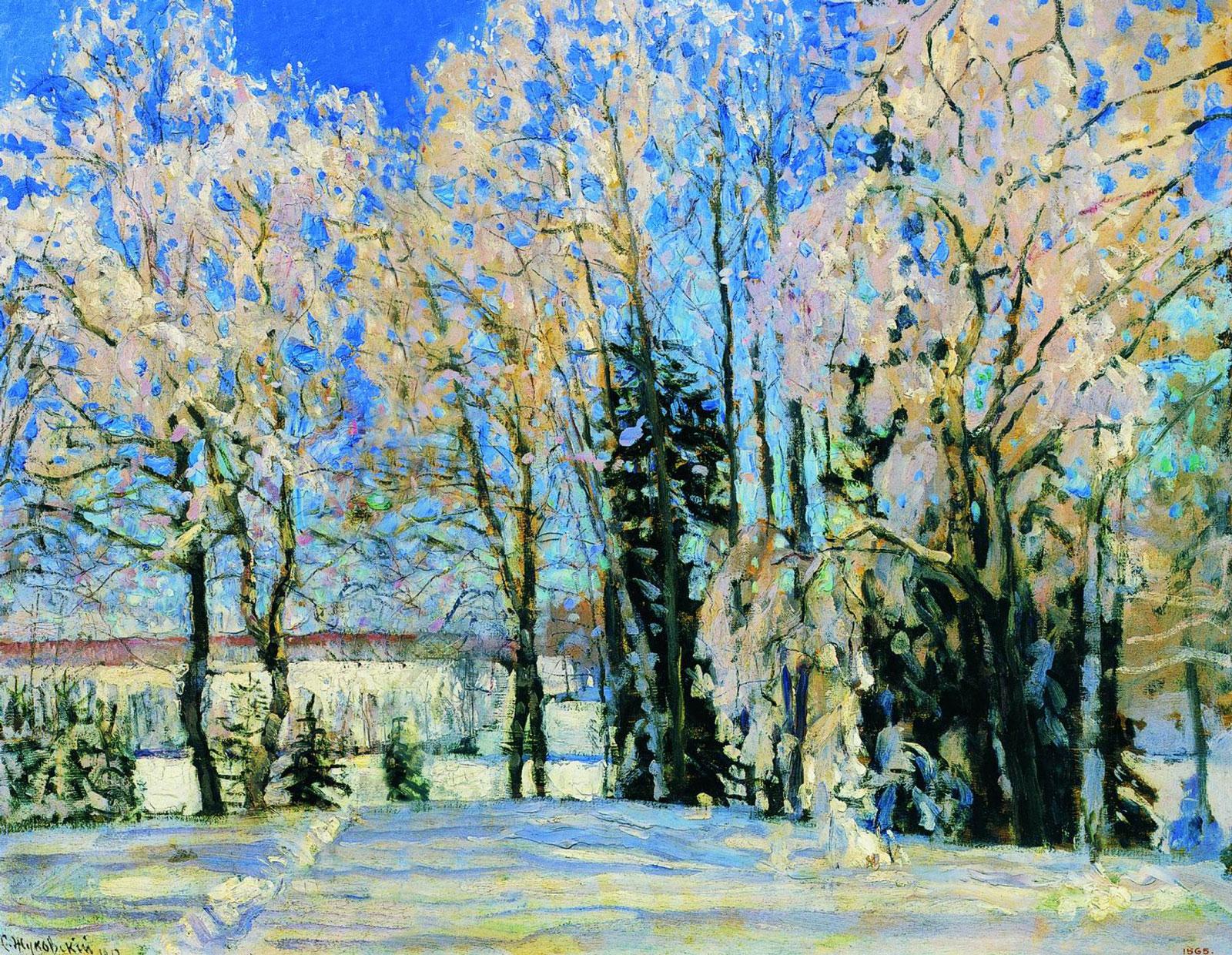 Жуковский Станислав Юлианович. Свежий снег. 1912