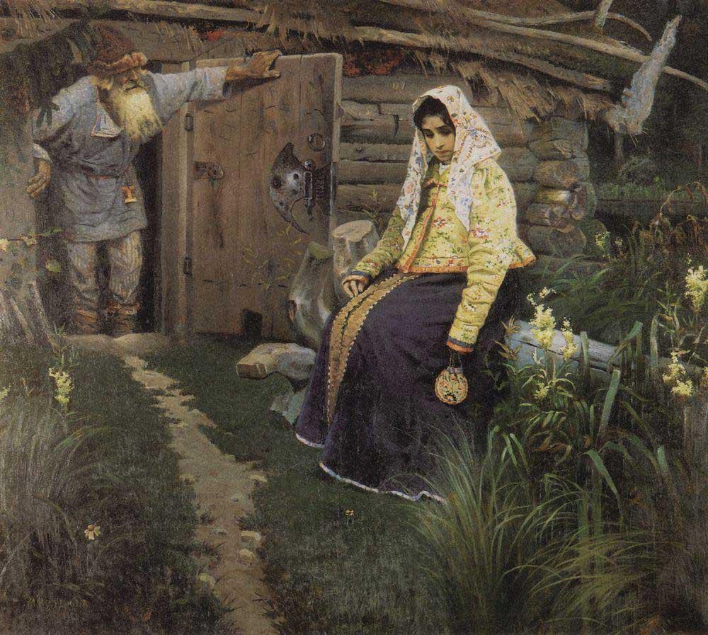 Михаил Васильевич Нестеров. За приворотным зельем. 1888