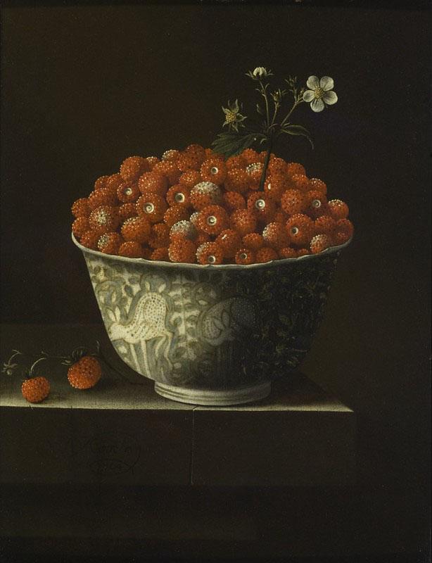 Дикая земляника в чаше Ван-ли (1704) Адриан Коорт (1665-1707)