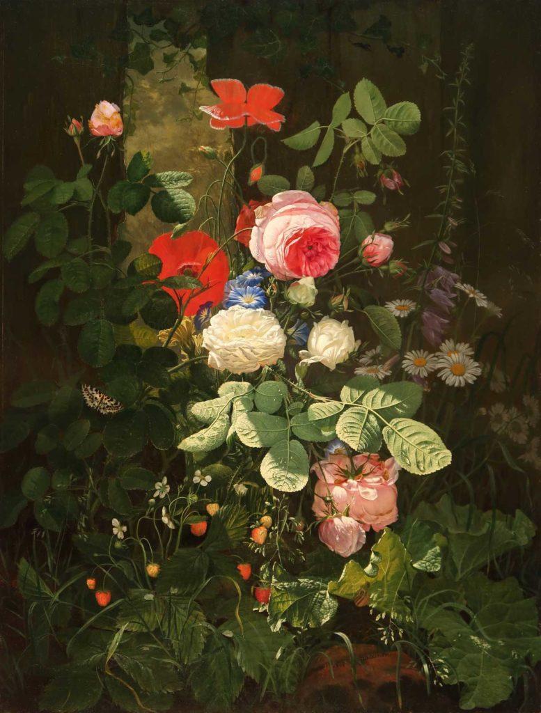 Натюрморт с цветами. Отто Дидрик Оттесен (1816-1892)