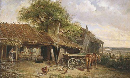 Попов (Московский) А.П. (1835 - 1889), Деревенский двор. 1861