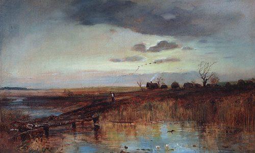 Саврасов А.К. (1830 - 1897), Осень. Деревушка у ручья. 1870-е.jpg