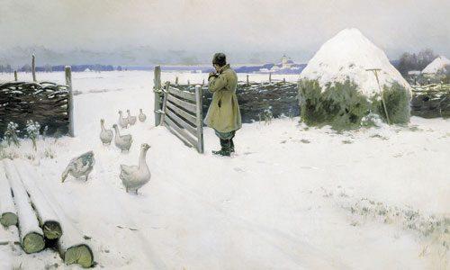 Гермашев М.М. (1867-1930), Снег выпал, 1897.jpg